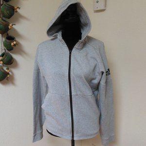 Adidas Grey Full Zip Hoodie